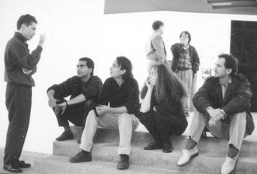 Jose Hernán Aguilar, Danilo Dueñas, Carlos Salas, Germán Botero en una inauguración de Gaula.