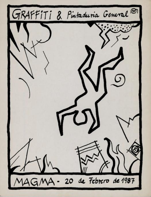 Invitación a exposición de graffiti. 1987