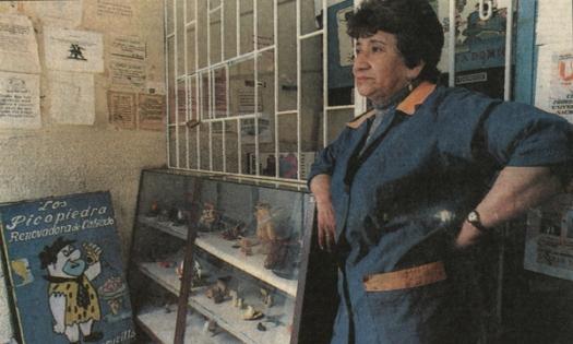 Colección de los Picapiedra en la zapatería Los Picapiedra. 1998