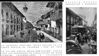 La reconstrucción de Bogotá. La amplitud de la Calle Real en la época de la colonia y su caos actual. Revista Proa # 13, junio de 1948.